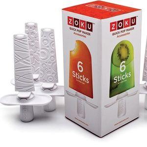 Zoku Popsicle Maker - 6 Quick Pop Sticks